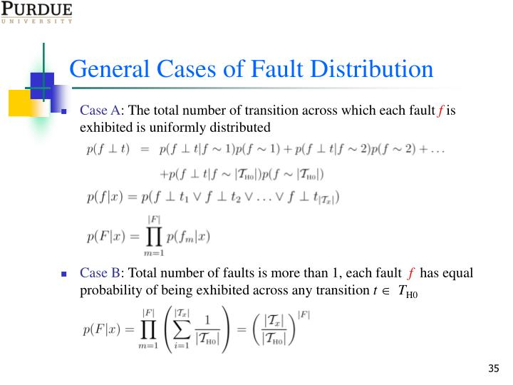 General Cases of Fault Distribution