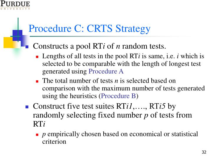 Procedure C: CRTS Strategy