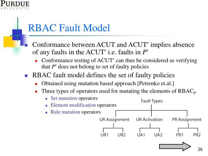 RBAC Fault Model