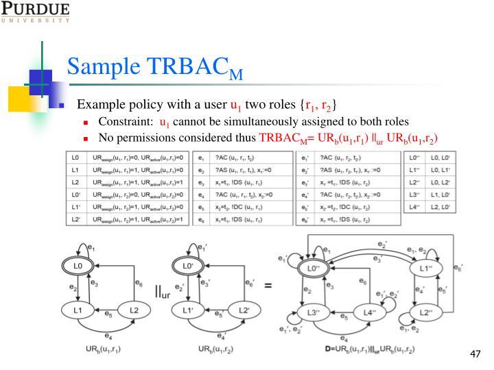 Sample TRBAC