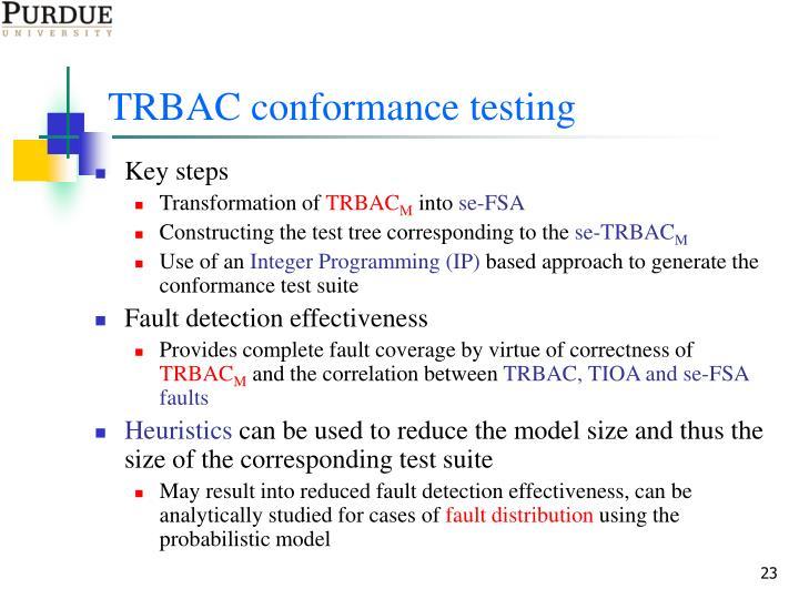 TRBAC conformance testing