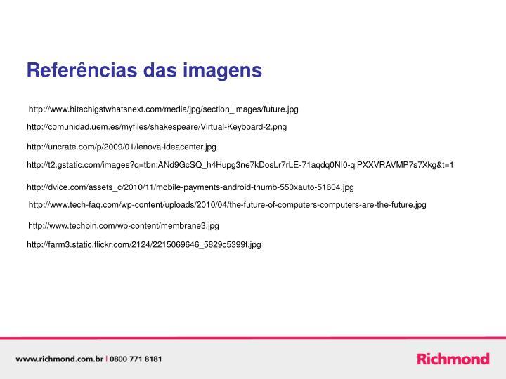 Referências das imagens