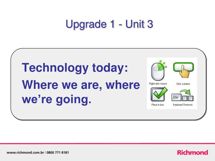 Technology today where we are where we re going