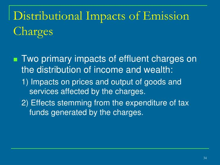 Distributional Impacts of Emission Charges