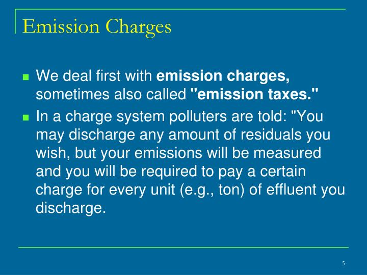 Emission Charges