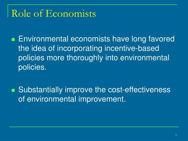 Role of Economists