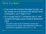 what tax rate