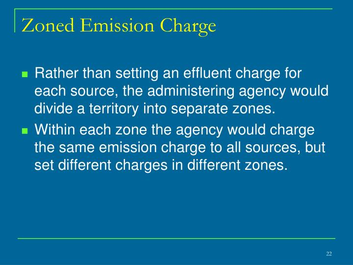 Zoned Emission Charge