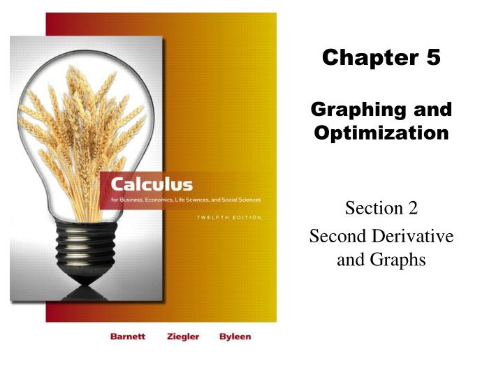 Chapter 5 graphing and optimization