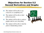 objectives for section 5 2 second derivatives and graphs
