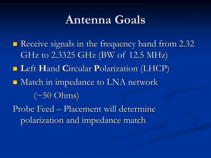 Antenna Goals