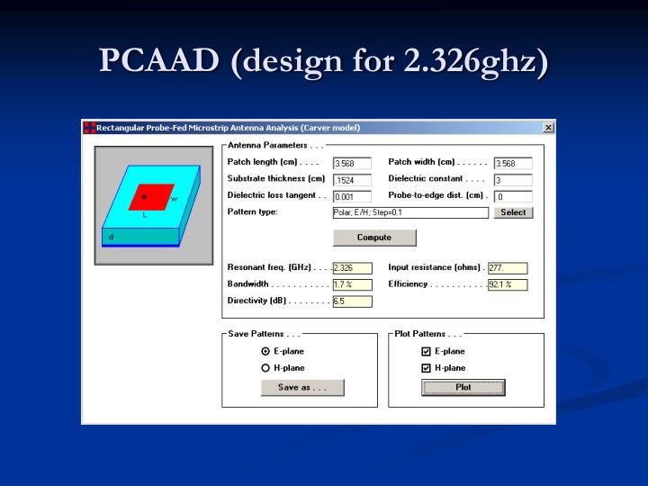 PCAAD (design for 2.326ghz)
