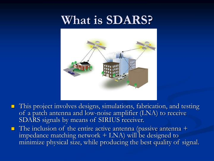 What is SDARS?