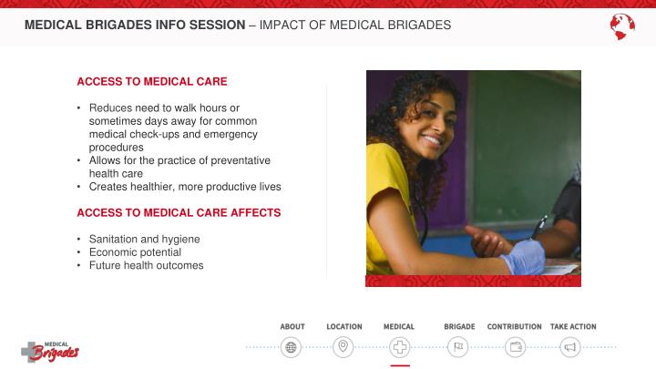 MEDICAL BRIGADES INFO SESSION