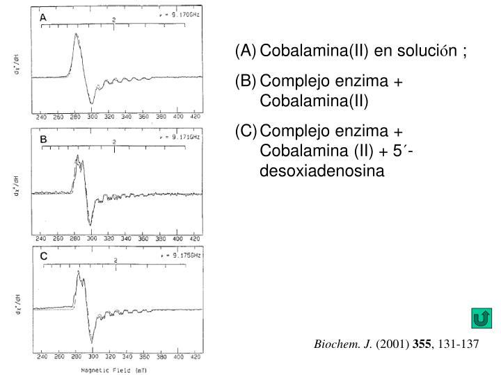 Cobalamina(II) en soluci