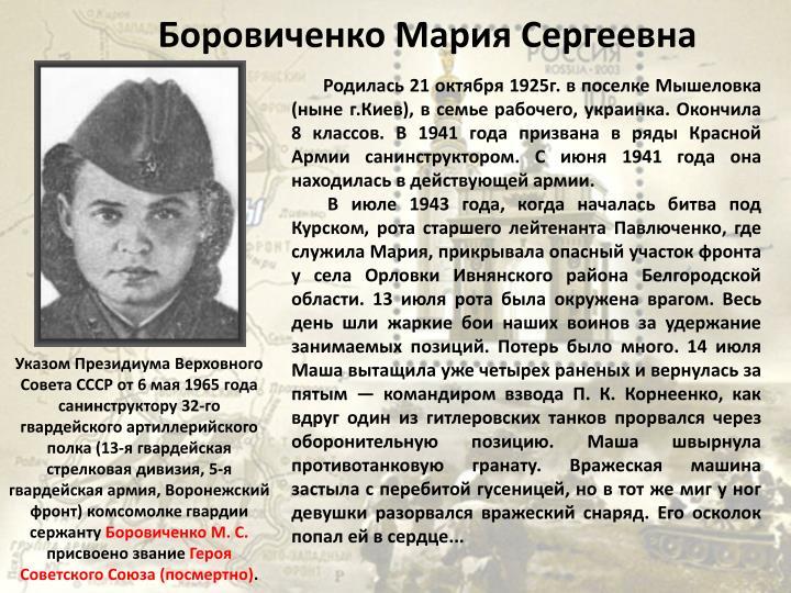 Боровиченко Мария Сергеевна