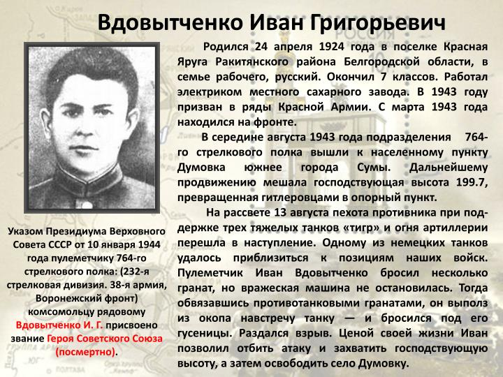Вдовытченко Иван Григорьевич