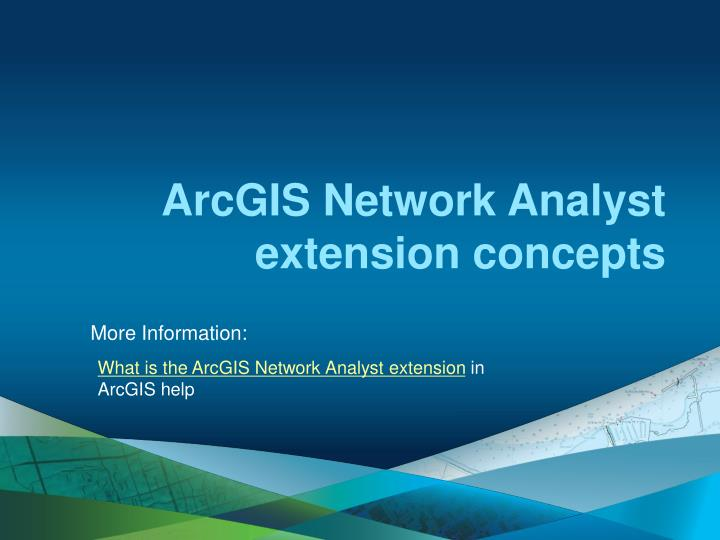 ArcGIS Network Analyst extension concepts