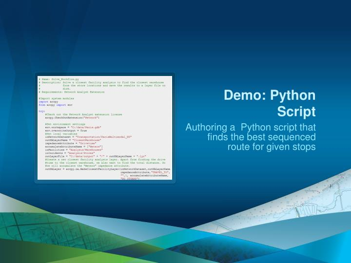 Demo: Python Script