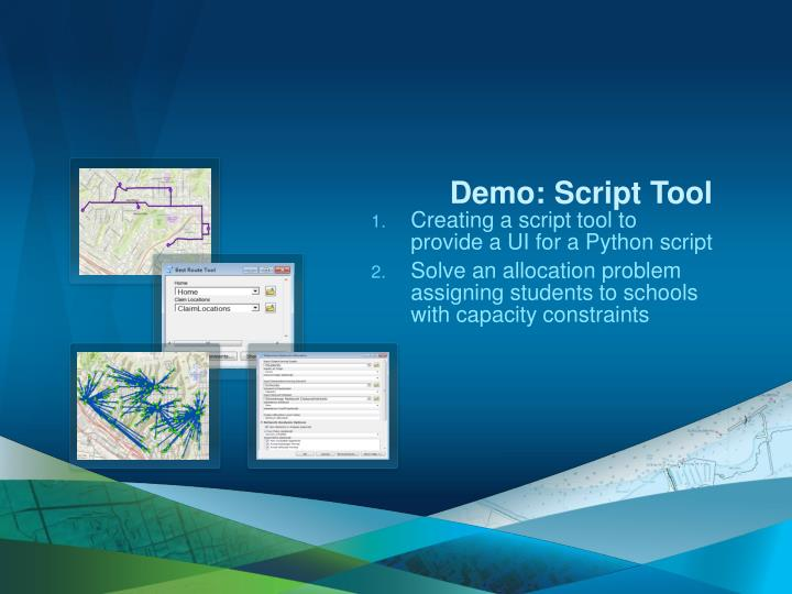 Demo: Script Tool