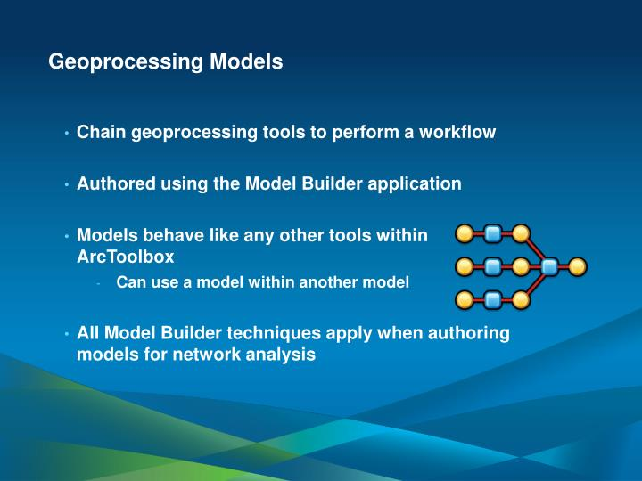 Geoprocessing Models