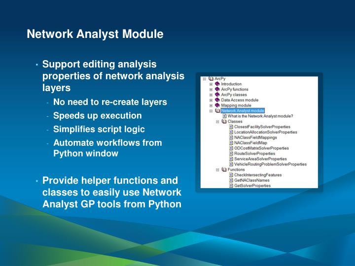 Network Analyst Module