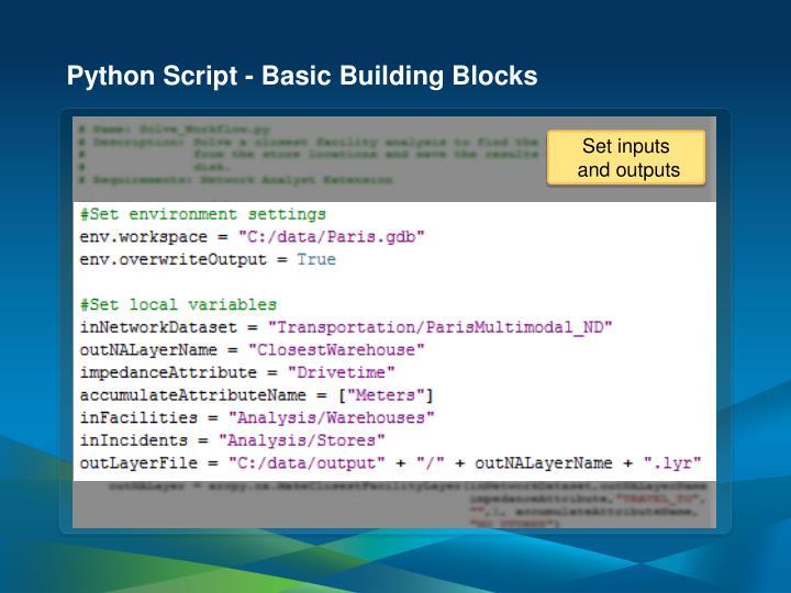 Python Script - Basic Building Blocks