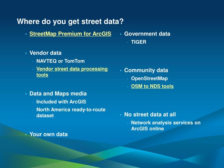 Where do you get street data?
