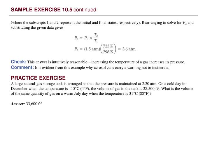 SAMPLE EXERCISE 10.5