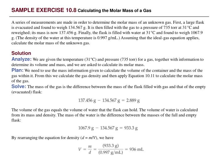 SAMPLE EXERCISE 10.8