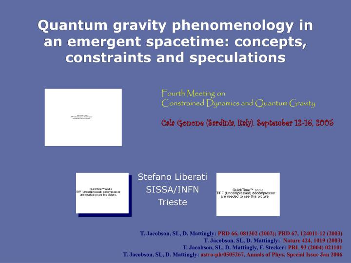 Quantum gravity phenomenology in an emergent spacetime concepts constraints and speculations
