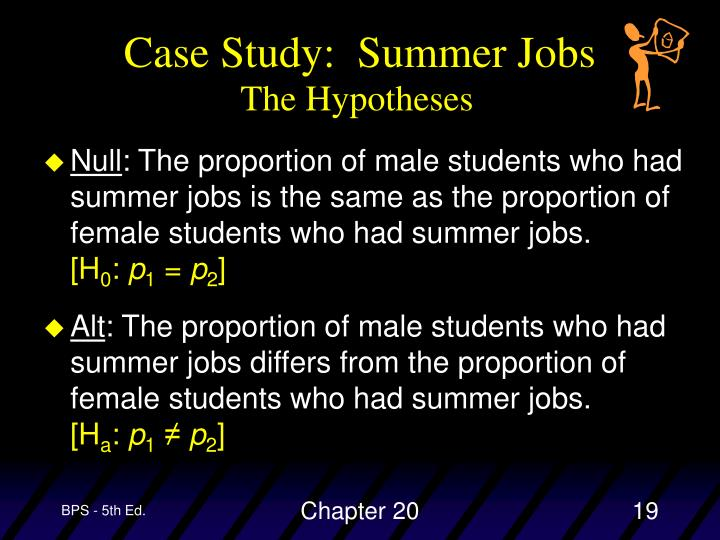 Case Study:  Summer Jobs
