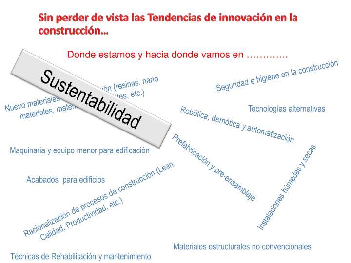 Sin perder de vista las Tendencias de innovación en la construcción…