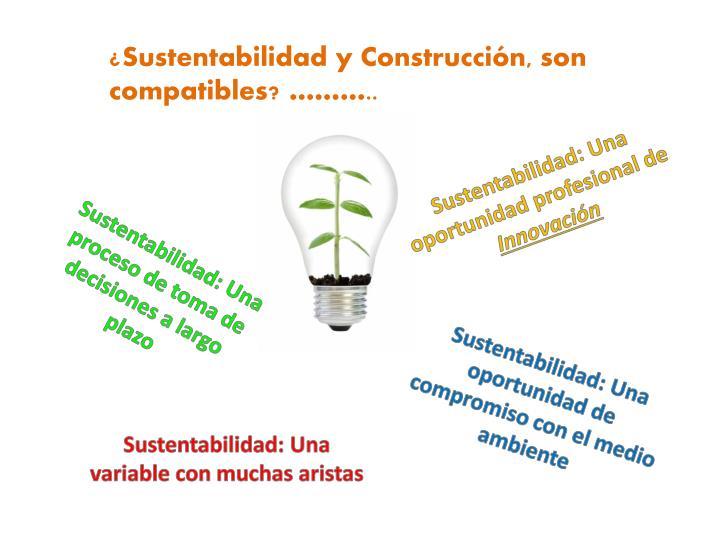 ¿SUSTENTABILIDAD Y CONSTRUCCIÓN, SON COMPATIBLES?