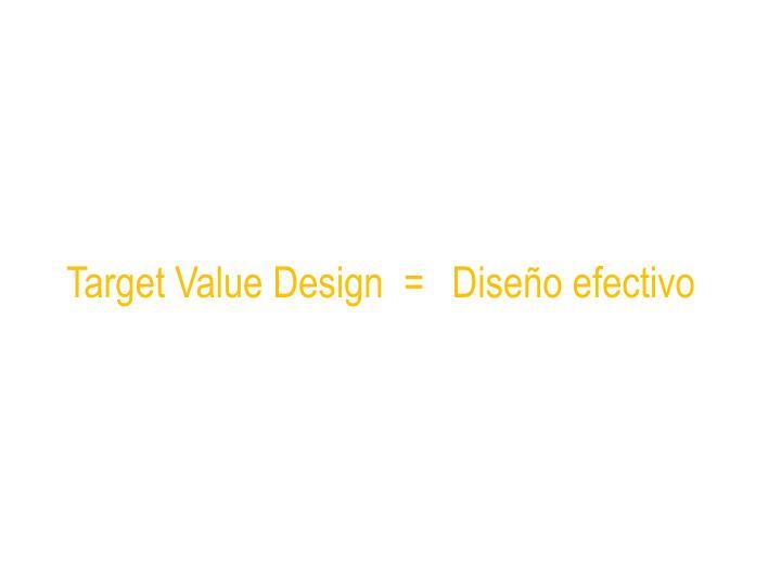 Target Value Design  =