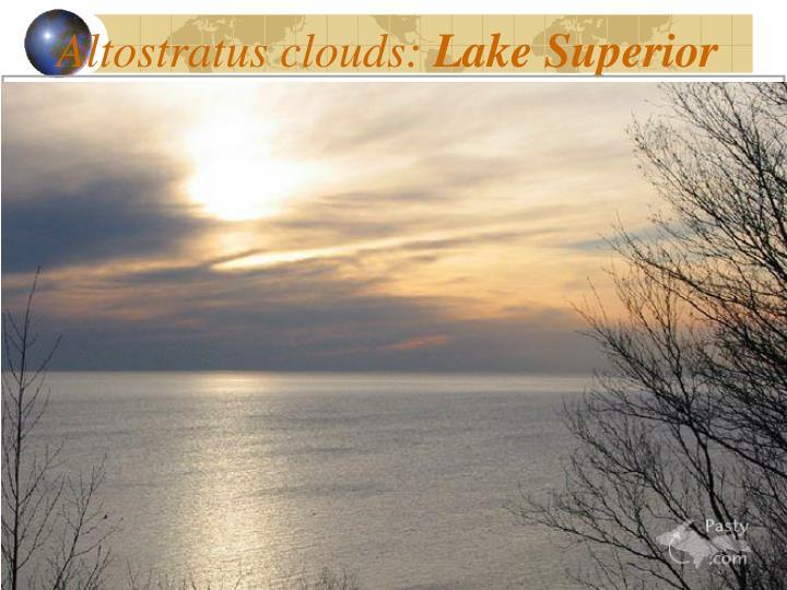 Altostratus clouds: