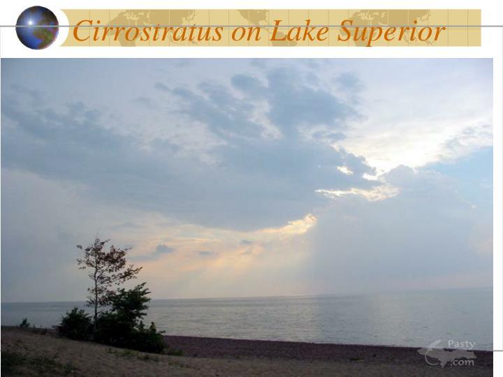 Cirrostratus on Lake Superior