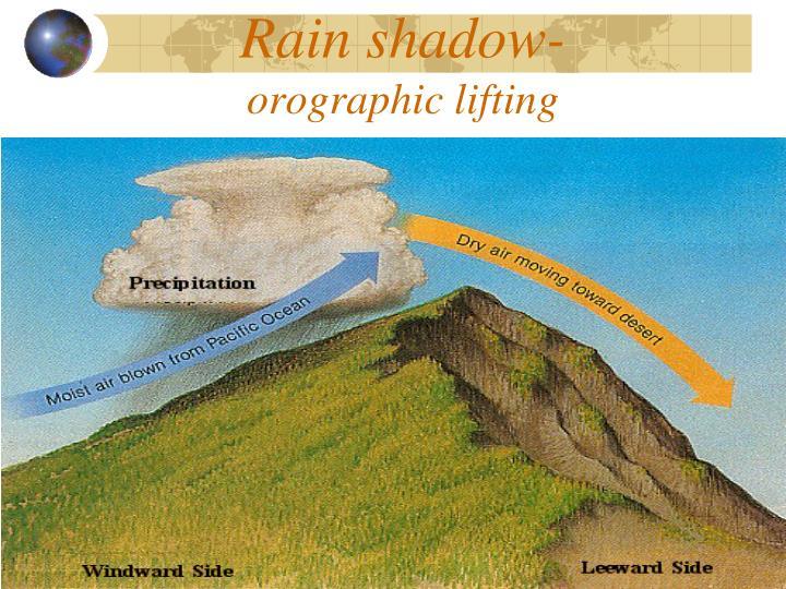 Rain shadow-