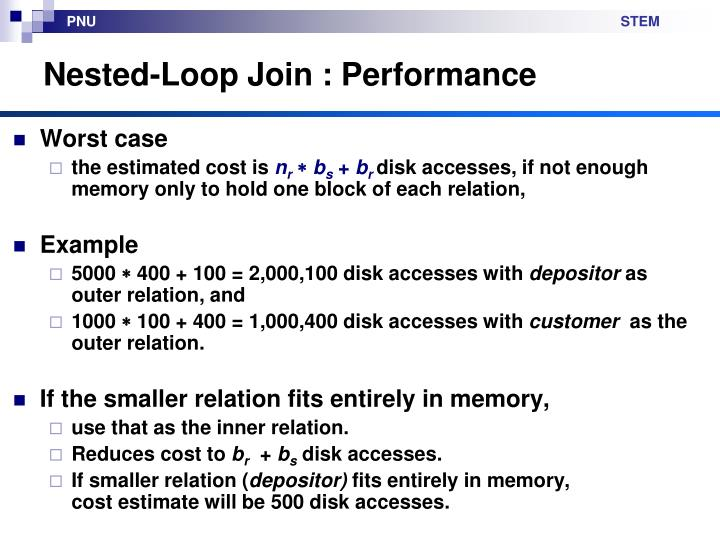 Nested-Loop Join : Performance