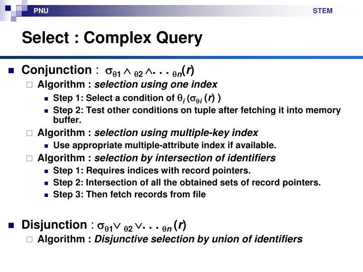 Select : Complex Query