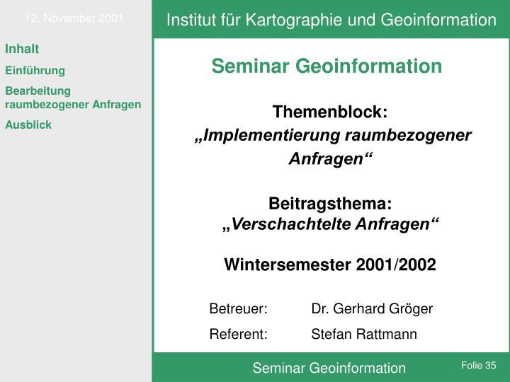 Institut für Kartographie