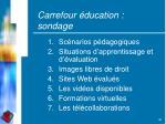 carrefour ducation sondage