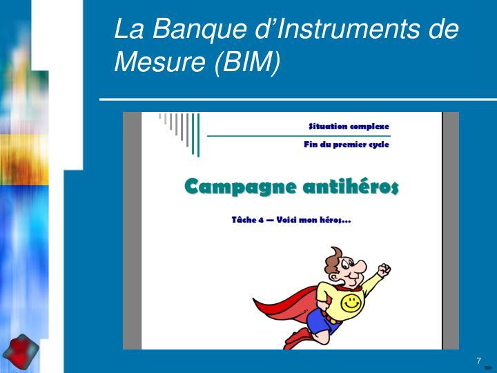 La Banque d'Instruments de Mesure (BIM)