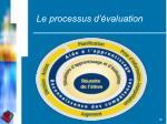 le processus d valuation