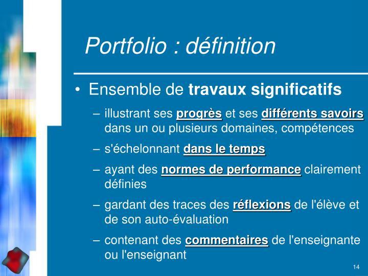 Portfolio : définition