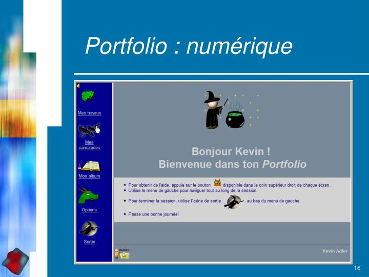 Portfolio : numérique