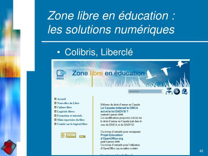 Zone libre en éducation :
