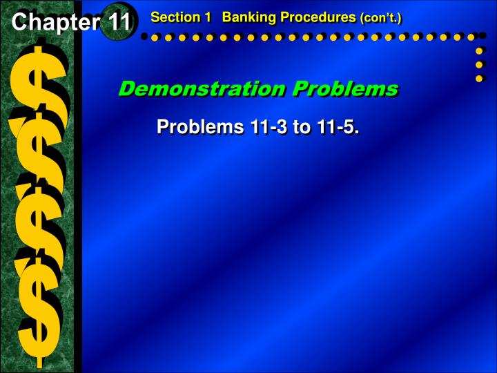 Section 1Banking Procedures