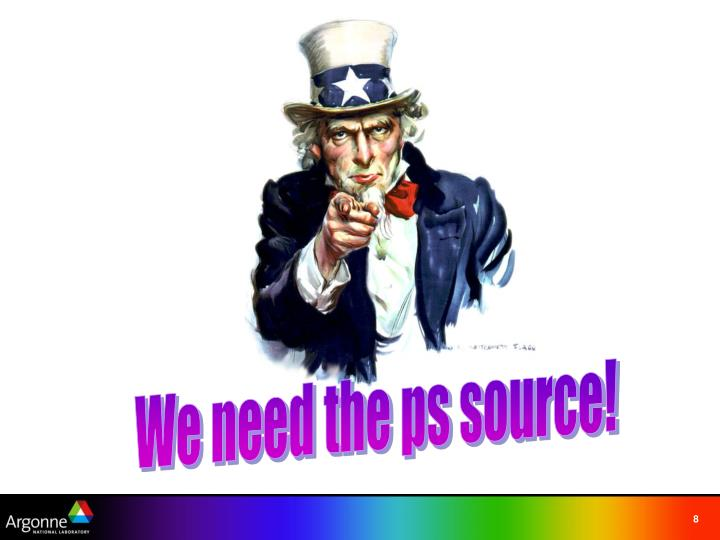 We need the ps source!