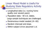 linear mixed model is useful for studying state regulatory activity